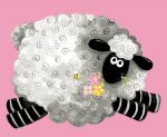 Pink LAL the Lamb Chenille Quilt Kit